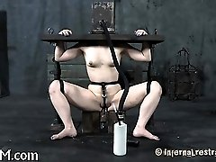 Gagged and tied up hotty...