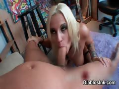 Nasty blonde whore goes...